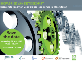 save the date: Biofabriek van de toekomst