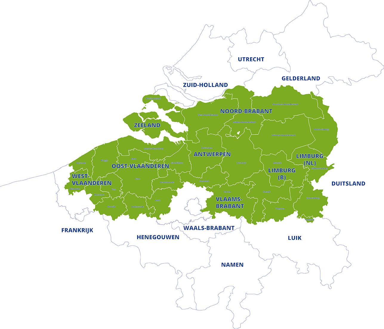 grensregio Vlaanderen-Nederland