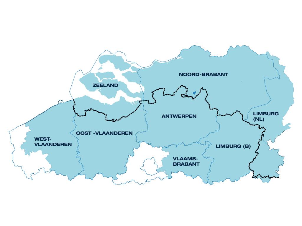 kaart Interreg IV